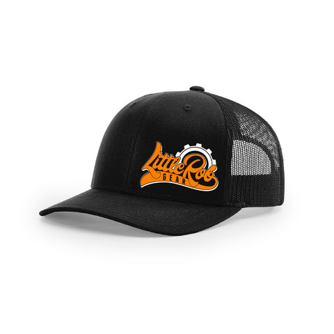 "Embroidered ""Little Rob Gear"" Logo on Black Trucker Hat"