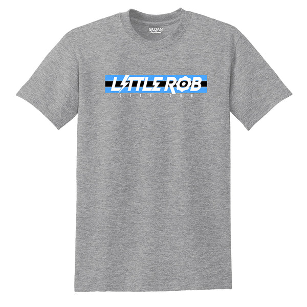 """Little Rob Gear.com"" Blue Logo T-shirt"