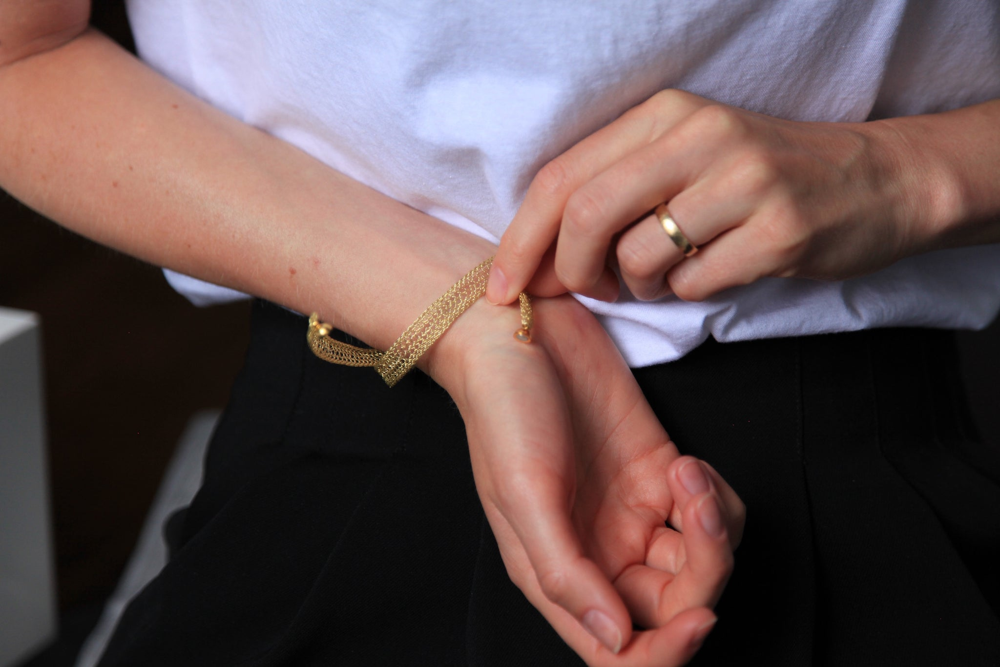 Poesy yellow bracelet