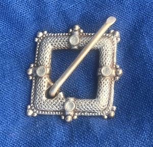 Diamond Buckle Brooch - W12