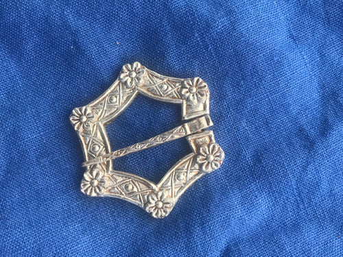 Large Rose Buckle Brooch - W17