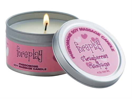 Pheromone Soy Massage Candles 4 Oz.