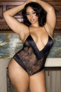 Roxanne All Over Black Lace Teddy