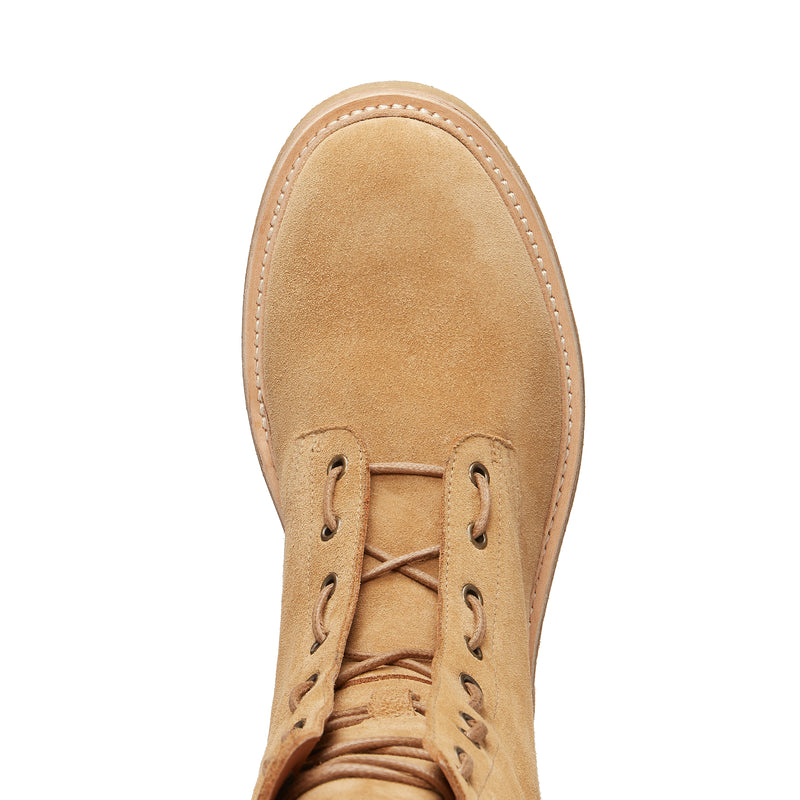 Lorenzo Combat Boot - Lion Suede