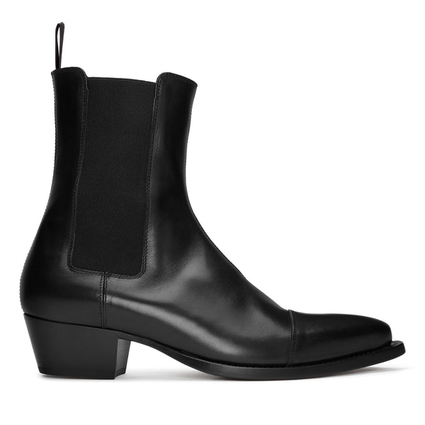 Paolo 45mm Chelsea Boot - Black Leather