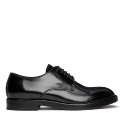 Derby Shoes - Black Hi-Shine Leather