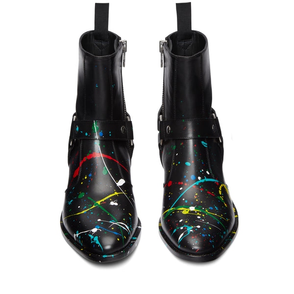 Enzo 40mm Harness Zip Boot - Paint Splatter