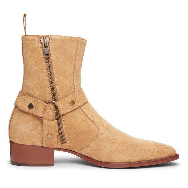 Enzo 40mm Harness Zip Boot - Lion Suede