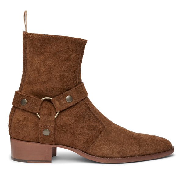 Enzo 40mm Harness Zip Boot - Nut Suede