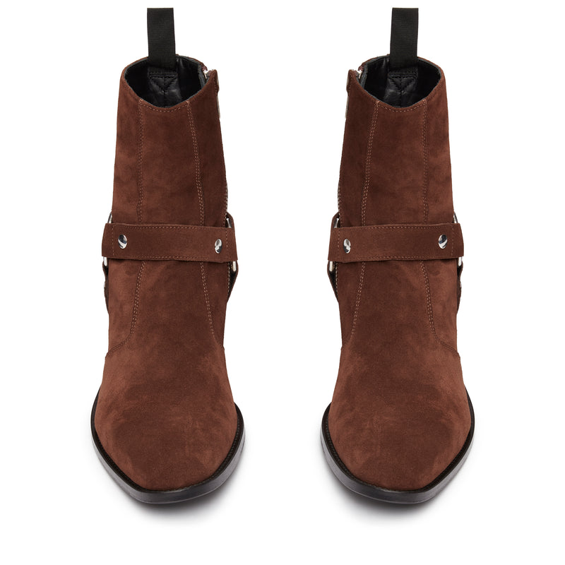 Enzo 40mm Harness Zip Boot - Espresso Suede