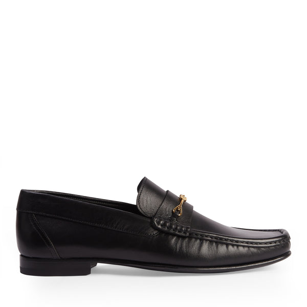 Salvatore Snaffle Loafer - Black Leather