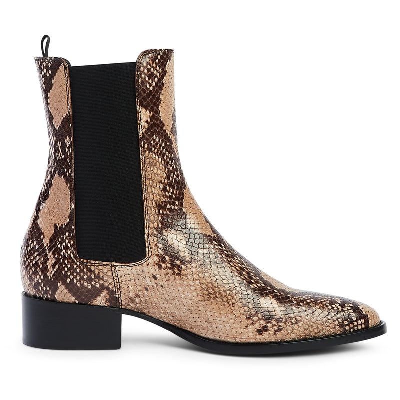 Marco 40mm Chelsea Boot - Beige Snake Effect
