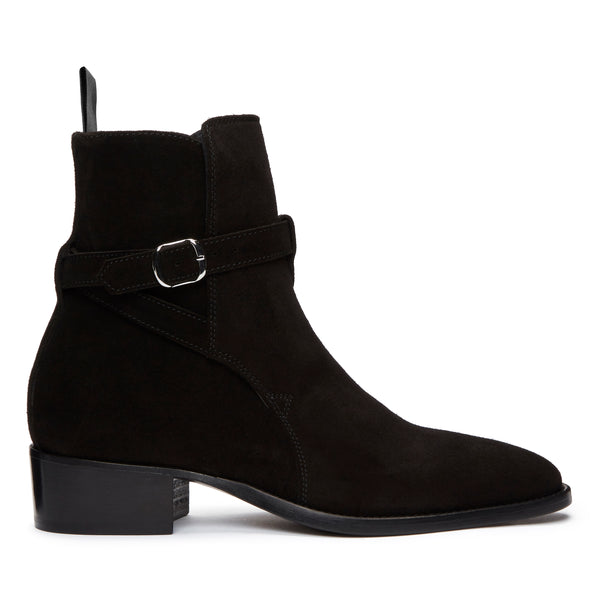 Womens Giulia 40mm Jodhpur Boot - Black Suede