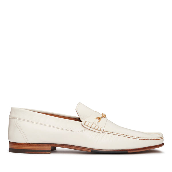 Salvatore Snaffle Loafer - Ivory Leather