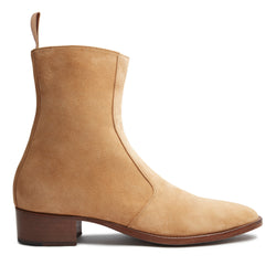Luca 40mm Side Zip Boot - Lion Suede
