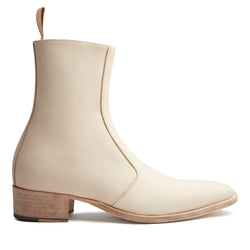 Luca 40mm Side Zip Boot - Natural Leather