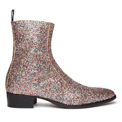 Luca 40mm Side Zip Boot - Rainbow Glitter