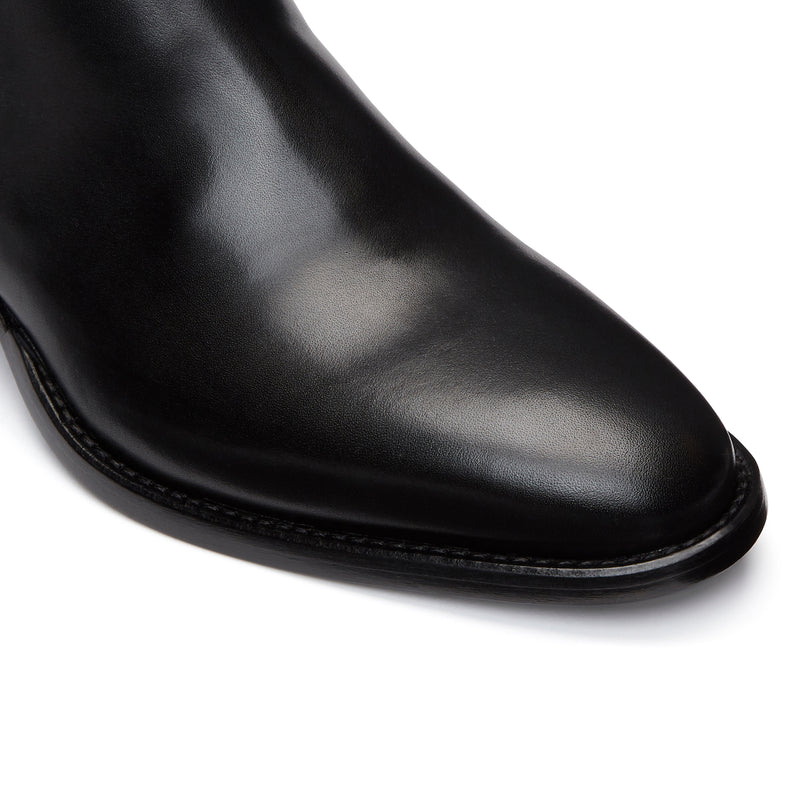 Womens Mara 40mm Chelsea Boot - Black Leather