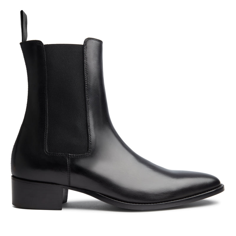 Marco 40mm Chelsea Boot - Black Leather