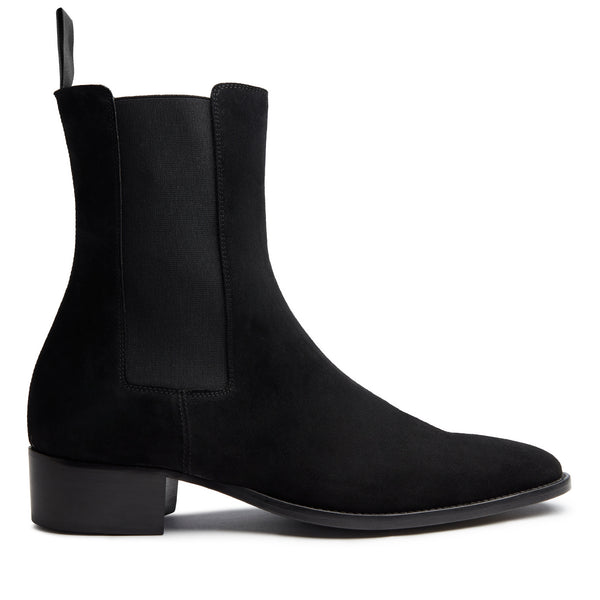 Marco 40mm Chelsea Boot - Black Suede