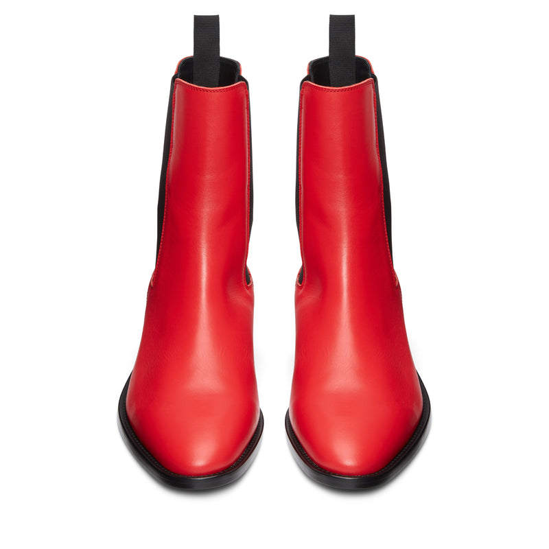 Marco 40mm Chelsea Boot - Red Leather