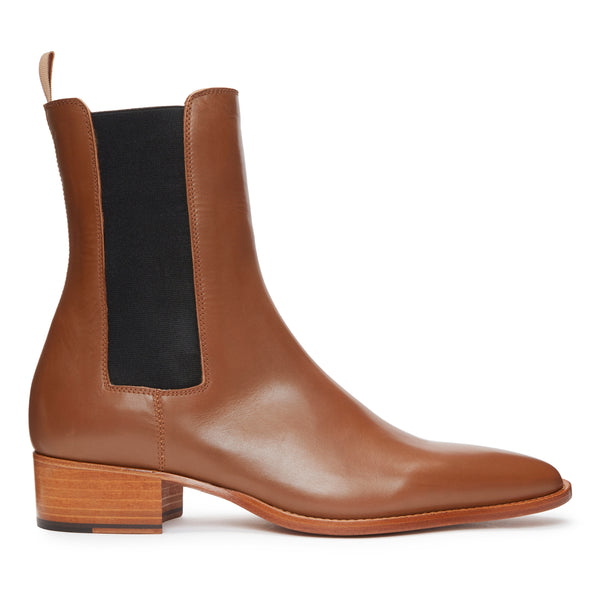 Marco 40mm Chelsea Boot - Brown Leather