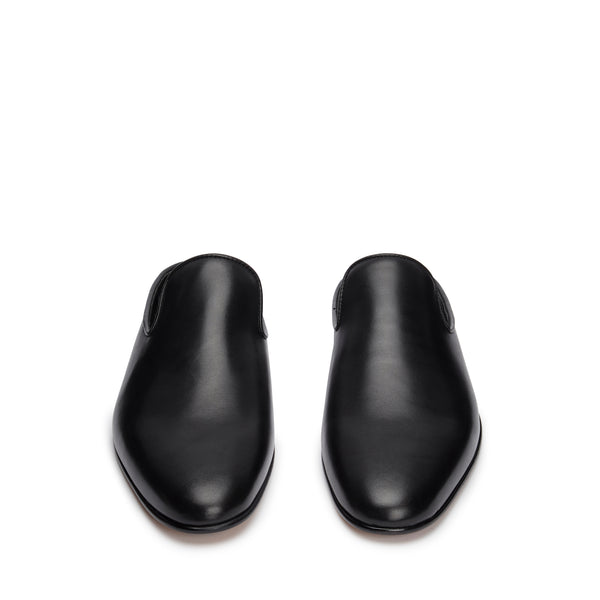 Mules Shoes - Black Leather