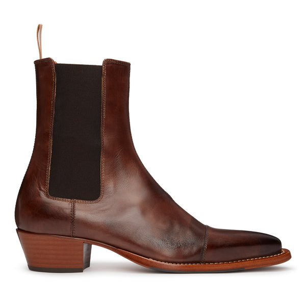 Paolo 45mm Chelsea Boot - Brown Hand-Dyed Leather