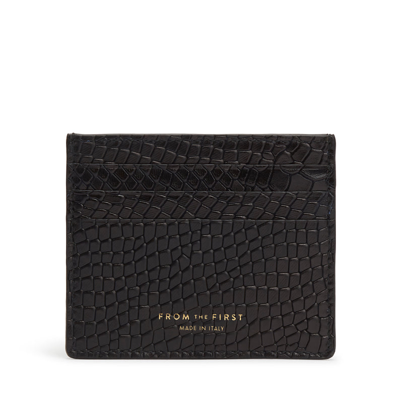 Card Holder - Black Python-Effect