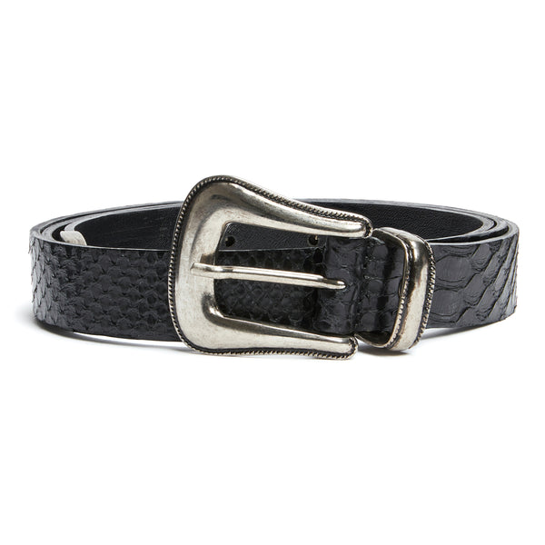 Western Belt - Black Real Python