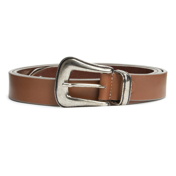 Western Belt - Brown Leather