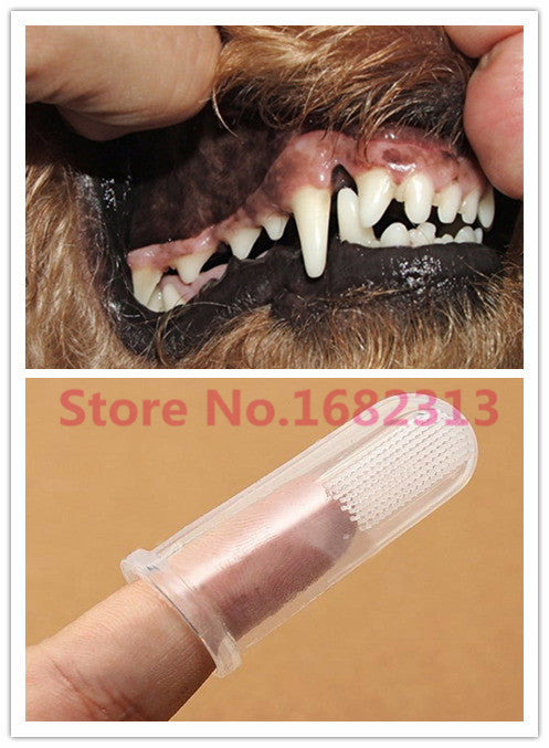 Super Soft Pet Finger Toothbrush - Fur Pants