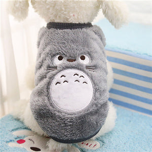 Cartoon Fleece Pet Vest - Fur Pants