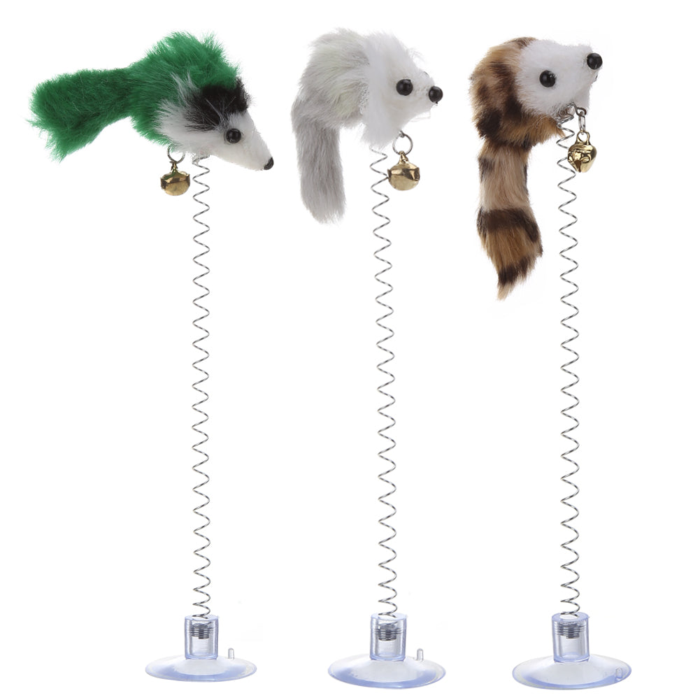 Spring Loaded Mouse Toy - Fur Pants