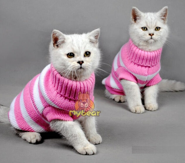 Candy Stripe Cat Sweater - Fur Pants
