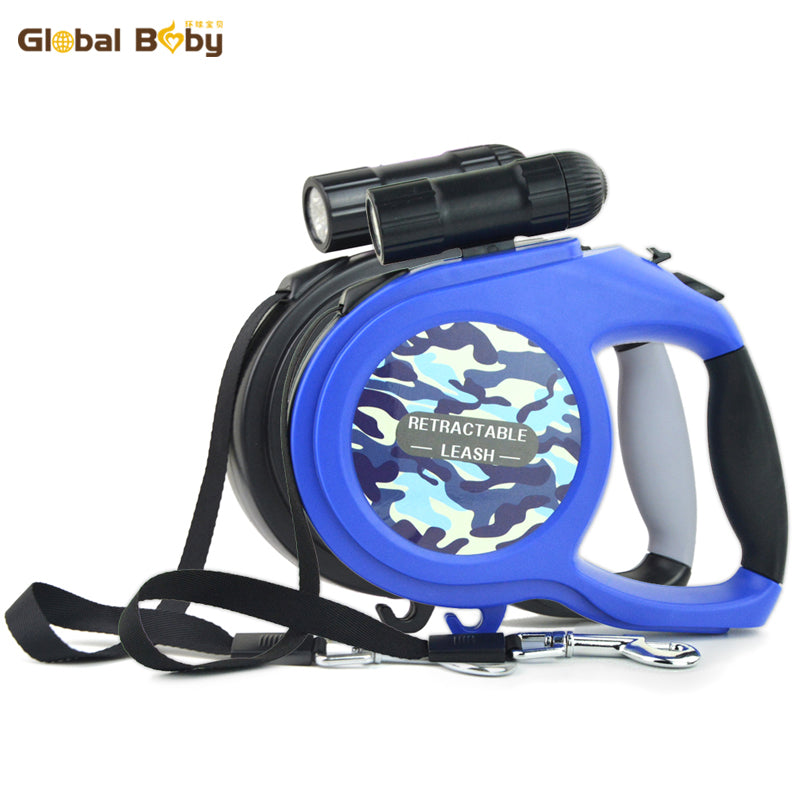 8M LED Light Retractable Dog Leash - Fur Pants
