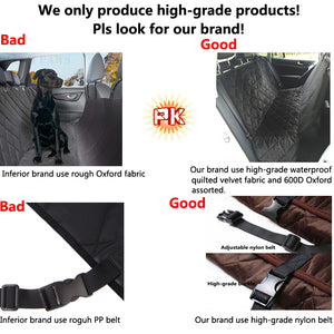 Back Seat Waterproof Cover, Hammock style for Car - Fur Pants