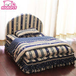 Three Piece Princess sofa Bed for Dogs/Cats, Includes: (Pet bed + pillow + blanket)