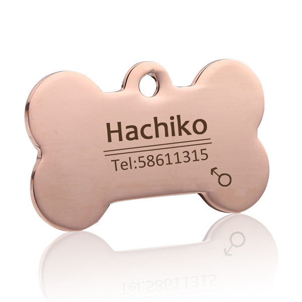 Custom Stainless Steel Pet Tag - Fur Pants