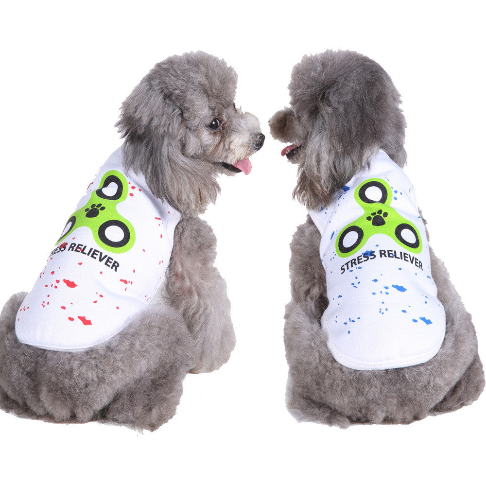 Fidget Spinning Dog Shirt - Fur Pants