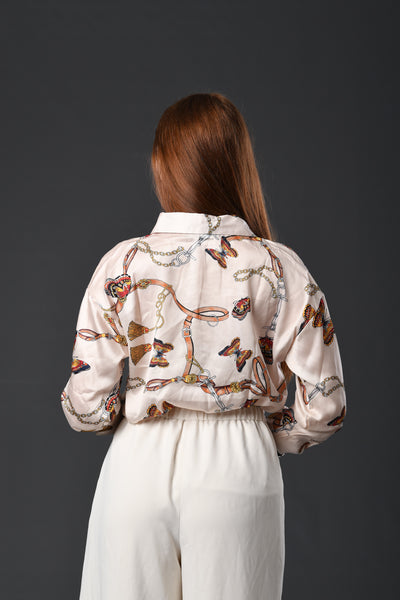 Dainty Chains Silk Shirt
