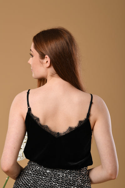 Suede Laced Camisole