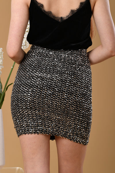 Dazzle Me Sequin Skirt