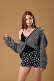 Tweed Oversize Semi Crop Jacket