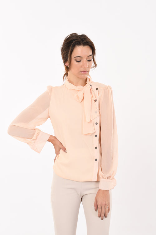 Marla Side Button Bow Top