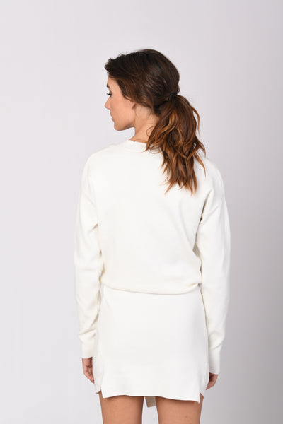 Jumper Dress In White