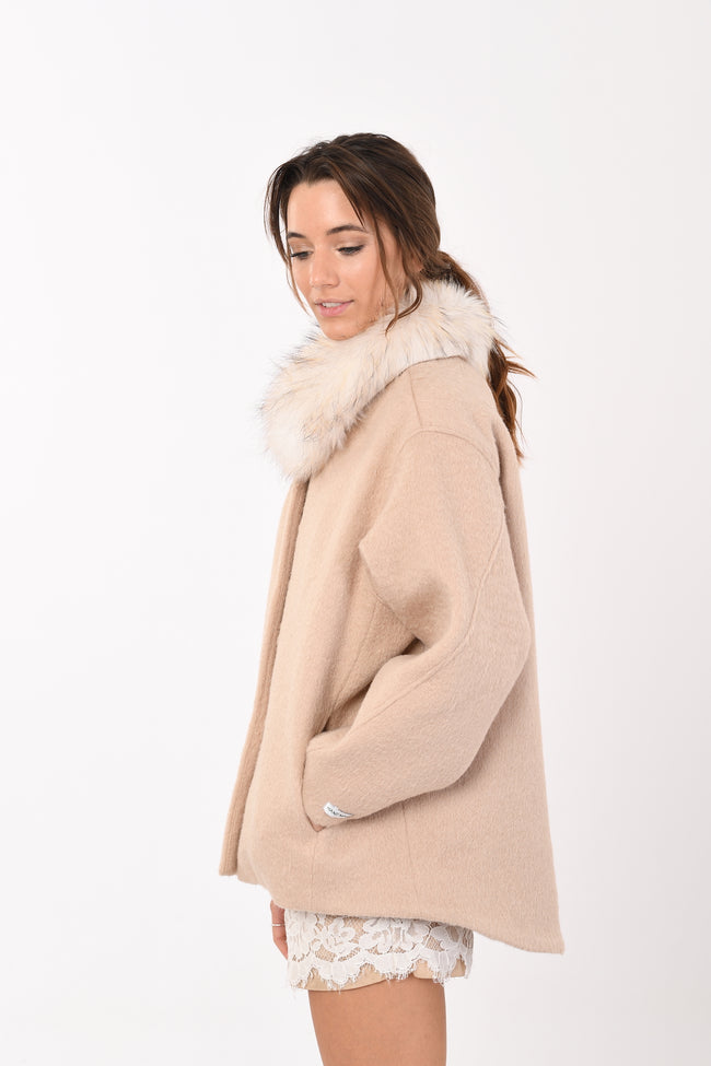 Cileo Fur Collar Coat