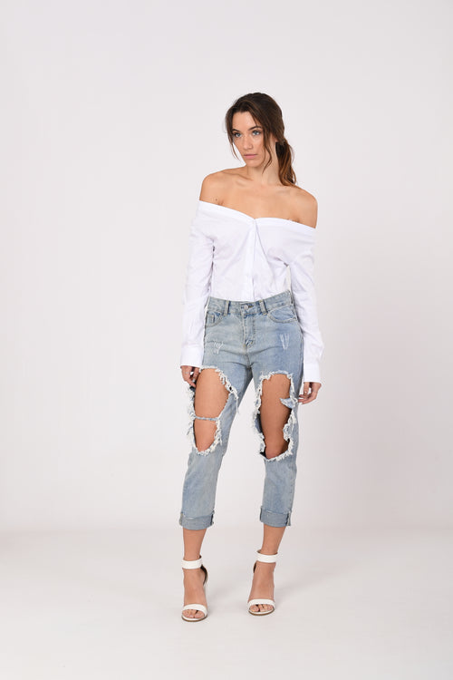 Off-Shoulder Shirt Top