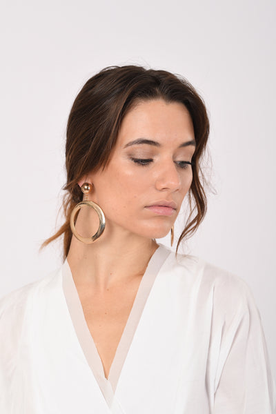 Broad Circle Earrings In Gold