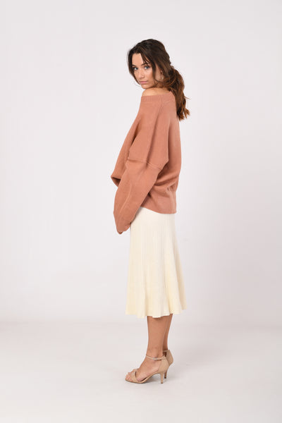 Salmon Oversized Knit